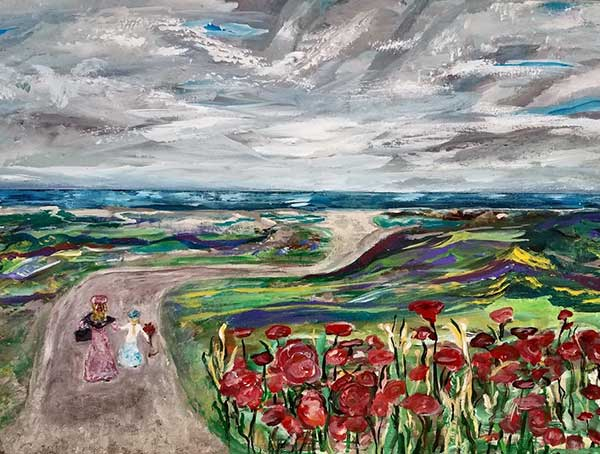Poppy Seascape Stroll